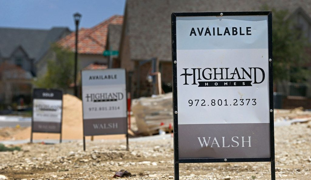 Lots are still available in the Walsh development in Fort Worth, Texas, Thursday, July 5, 2018. The Walsh development, formerly part of Walsh Ranch, is on more than 7,000 acres. (Jae S. Lee/The Dallas Morning News)