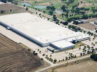 The former Blockbuster video shipping hub is near U.S. 75.
