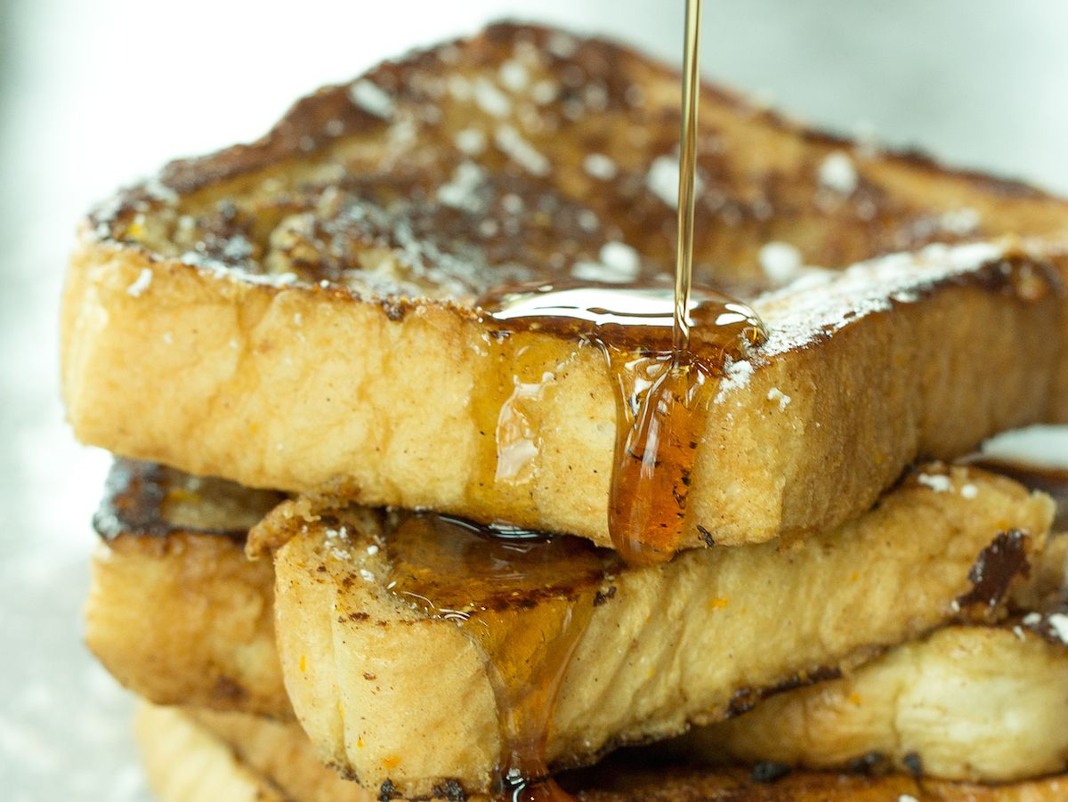Blue Mesa Grill's brunch buffet menu includes French toast.