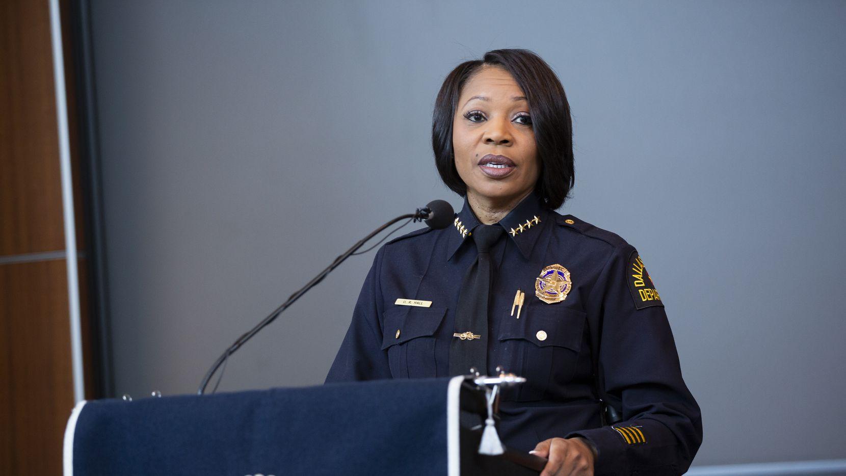 La jefa de policía de Dallas, Reneé Hall.
