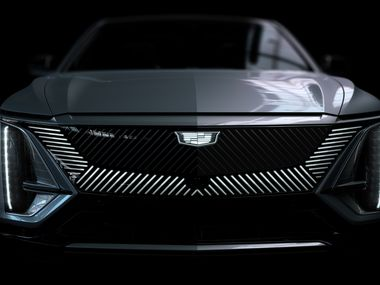 The 2023 Lyriq EV will be the first Cadillac with truly vertical headlamps.