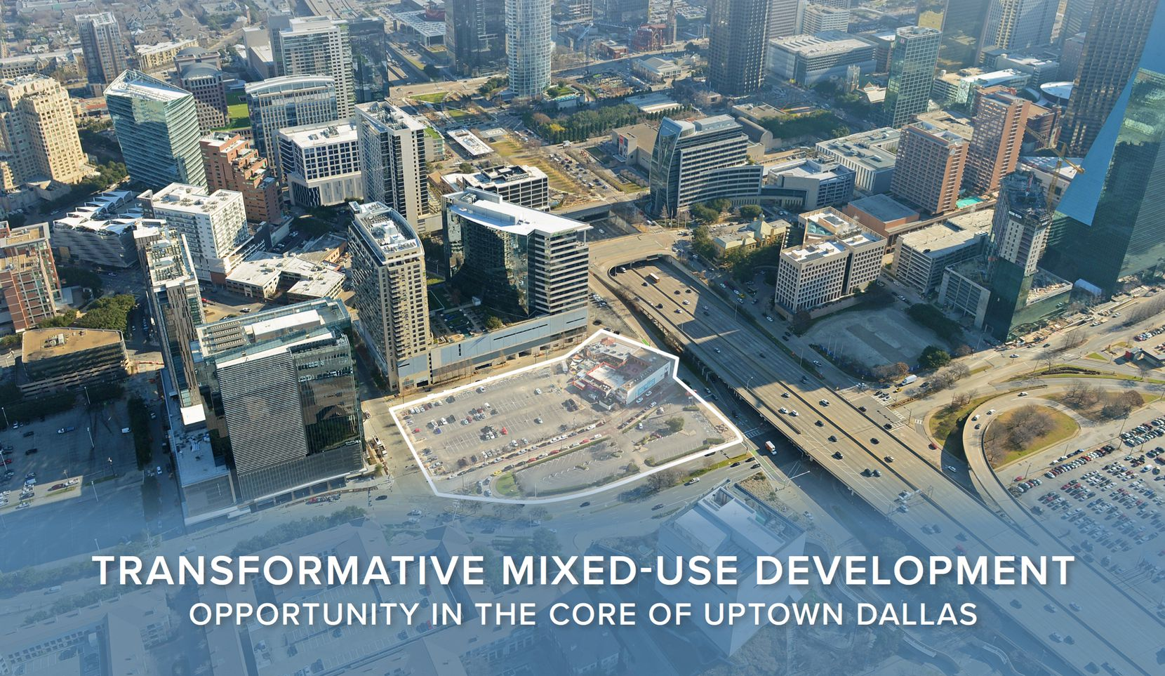 Real estate brokers at HFF are hunting a buyer for what they say is one of Dallas' best development sites.