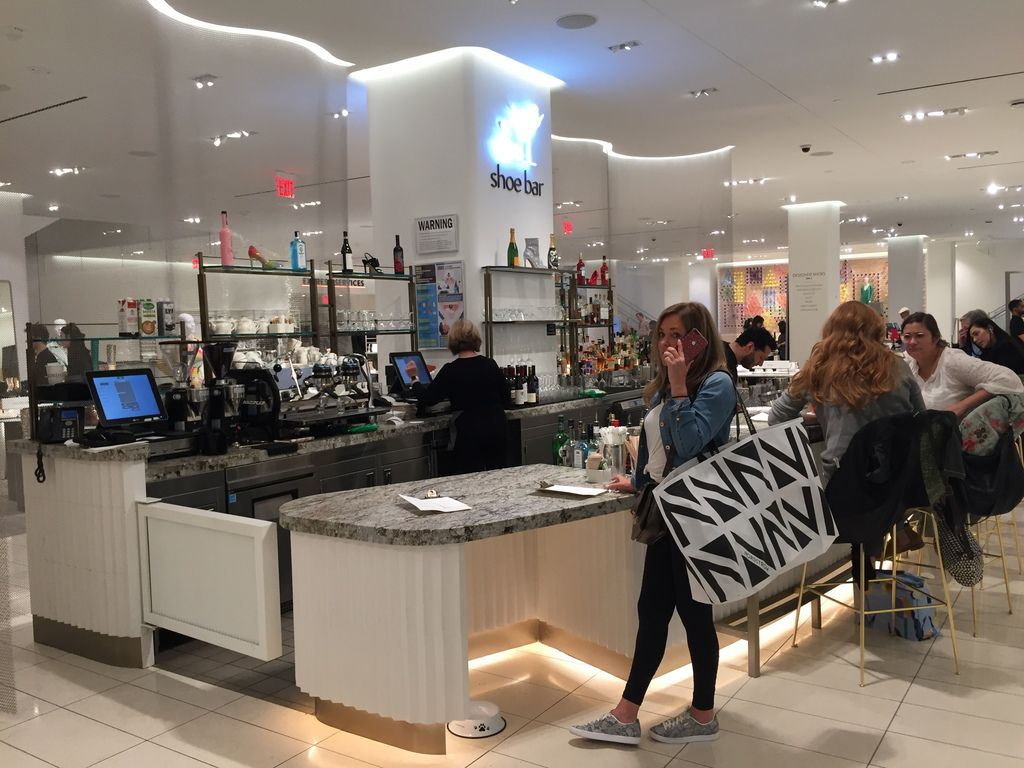 The shoe bar is in Nordstrom's new Manhattan store, which opened in October.