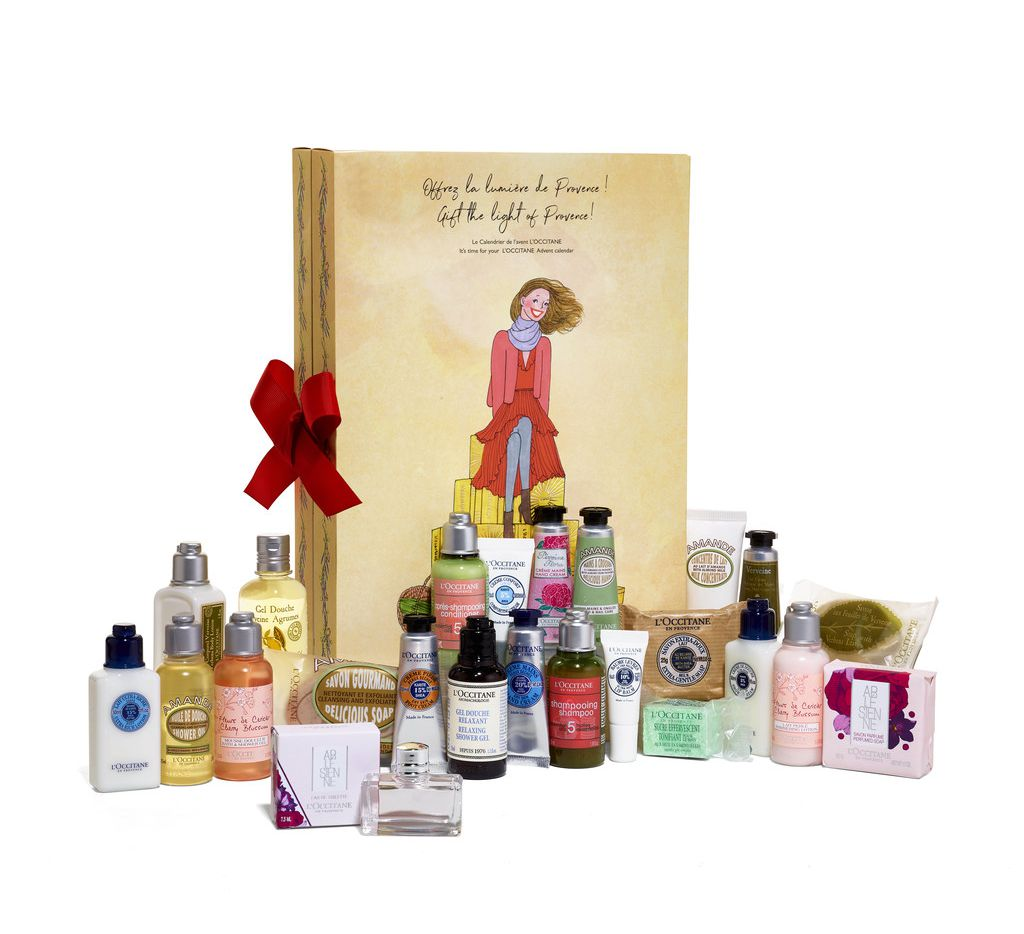 L'Occitane's beauty advent calendar is filled with 24 beauty and body products.