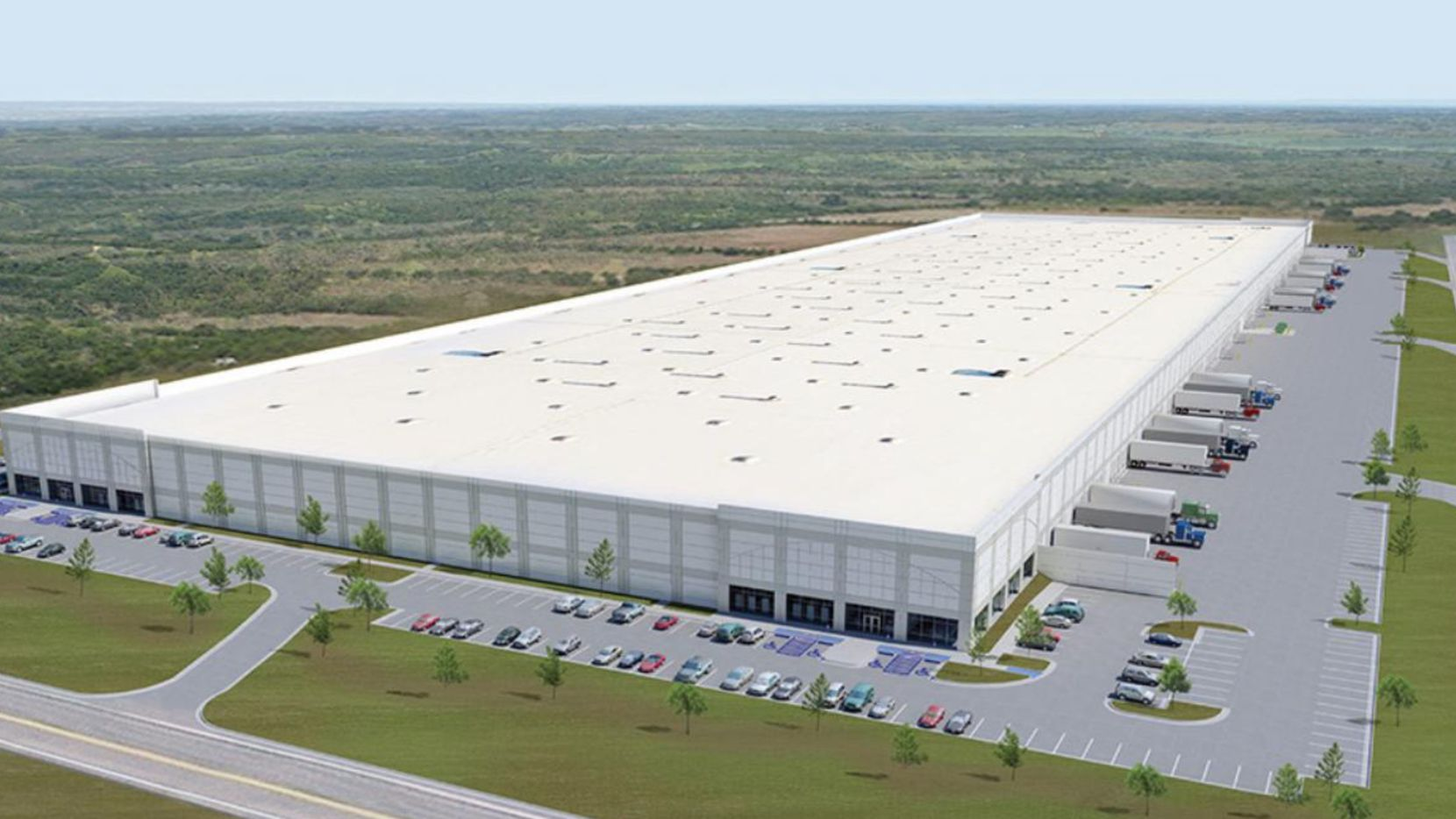 Duke Realty's Intermodal III warehouse project is near Interstate 45.