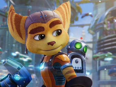 """An image from """"Ratchet and Clank: Rift Apart"""" for the PlayStation 5."""