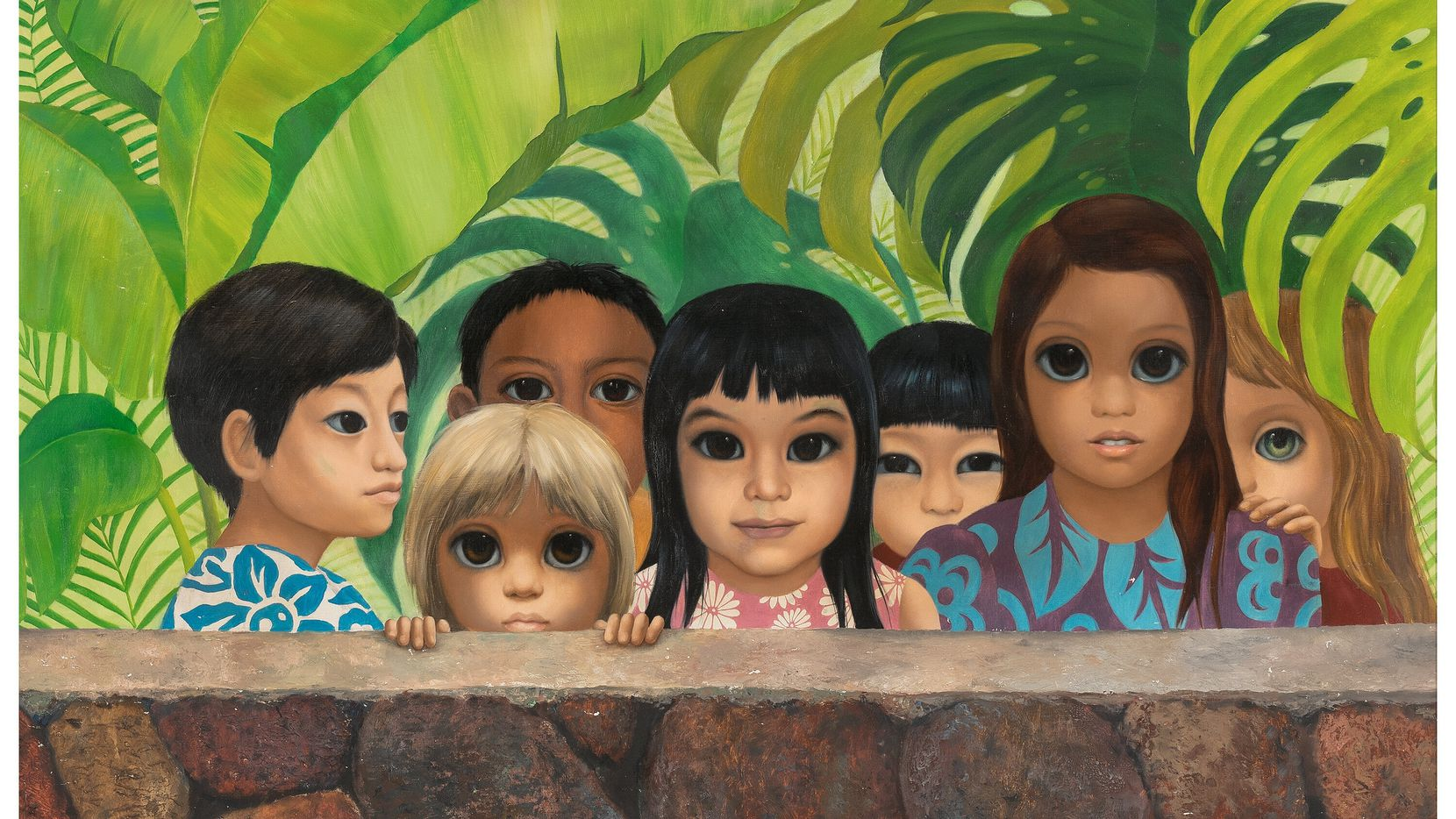 """In November 1972, the painting """"Eyes Upon You"""" by artist Margaret Keane went missing from a waiting room in a dentist's office in Honolulu. Nearly 50 years later, it was returned to the family who originally owned it."""