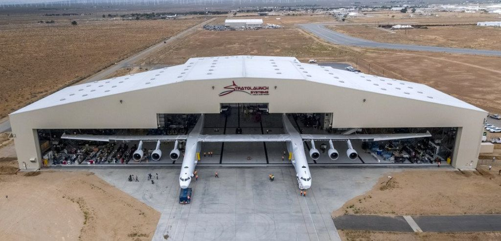 Initial testing will focus on filling the six fuel tanks to ensure they are properly sealed and that related mechanisms are operating properly. (Stratolaunch Systems Corp. via AP)