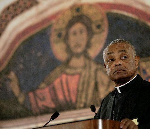 Bishop Wilton Gregory, chairman of the United States Conference of Catholic Bishops, addresses the annual conference of Catholic Bishops, in Washington, D.C. in 2003..