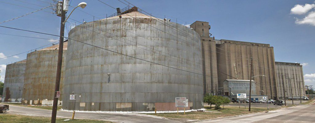 The Maalt Transportation silos at 2000 south Main Street in Fort Worth.