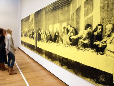 From right to left, Laren McDowell, Laura Borinsky and Cara Darden look at 'The Last Supper,' 1986, one of Andy Warhol's paintings that is on exhibit at the Modern Art Museum of Fort Worth in 2010.
