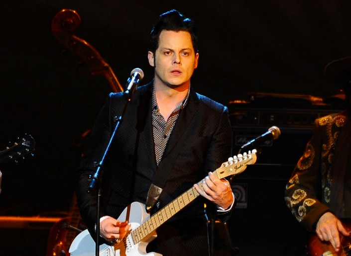 In this Feb. 6, 2015 file photo, Jack White performs at the 2015 MusiCares Person of the Year show at the Los Angeles Convention Center in Los Angeles. White says he's about to take a long break from performing live.