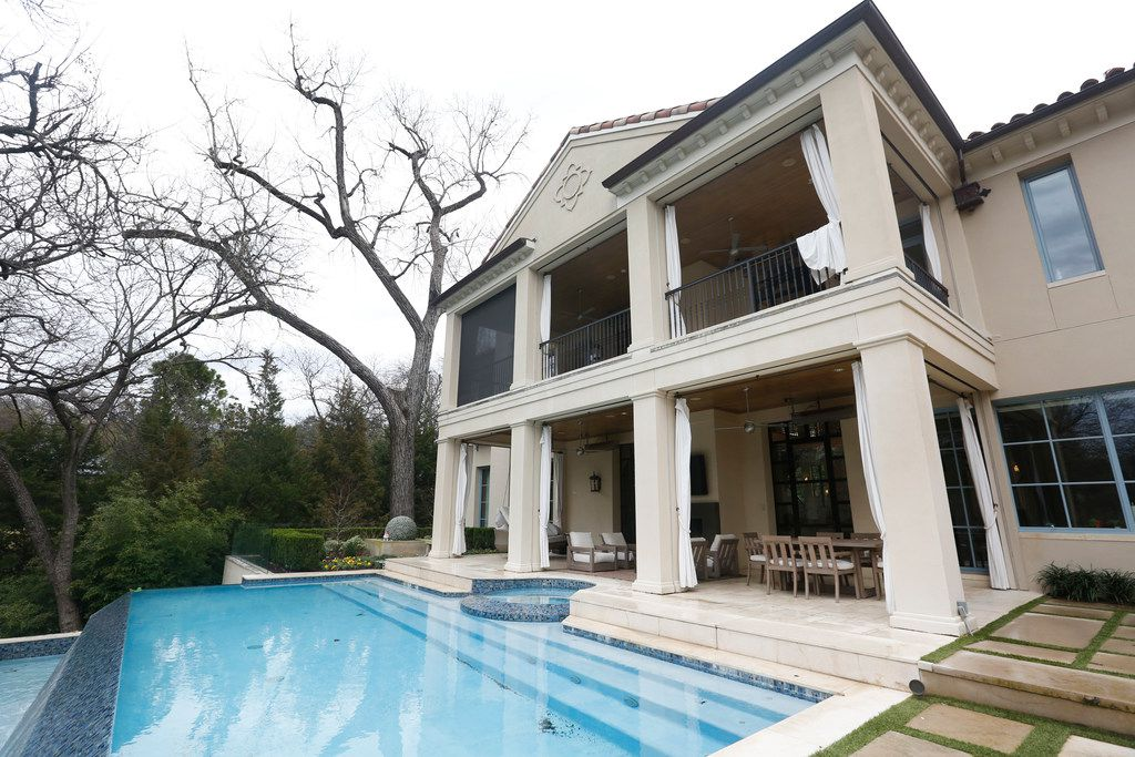 "Backyard exterior of Travis and Stephanie Hollman's home in Dallas on Thursday, Feb. 21, 2019. Stephanie is a cast member on ""The Real Housewives of Dallas"". (Rose Baca/Staff Photographer)"