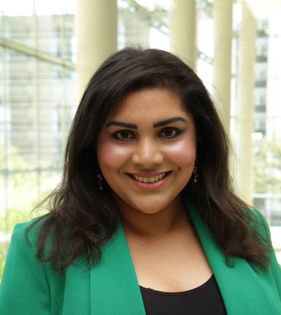 Vidya Ayyr manages community health workers at Parkland Health & Hospital System in Dallas.