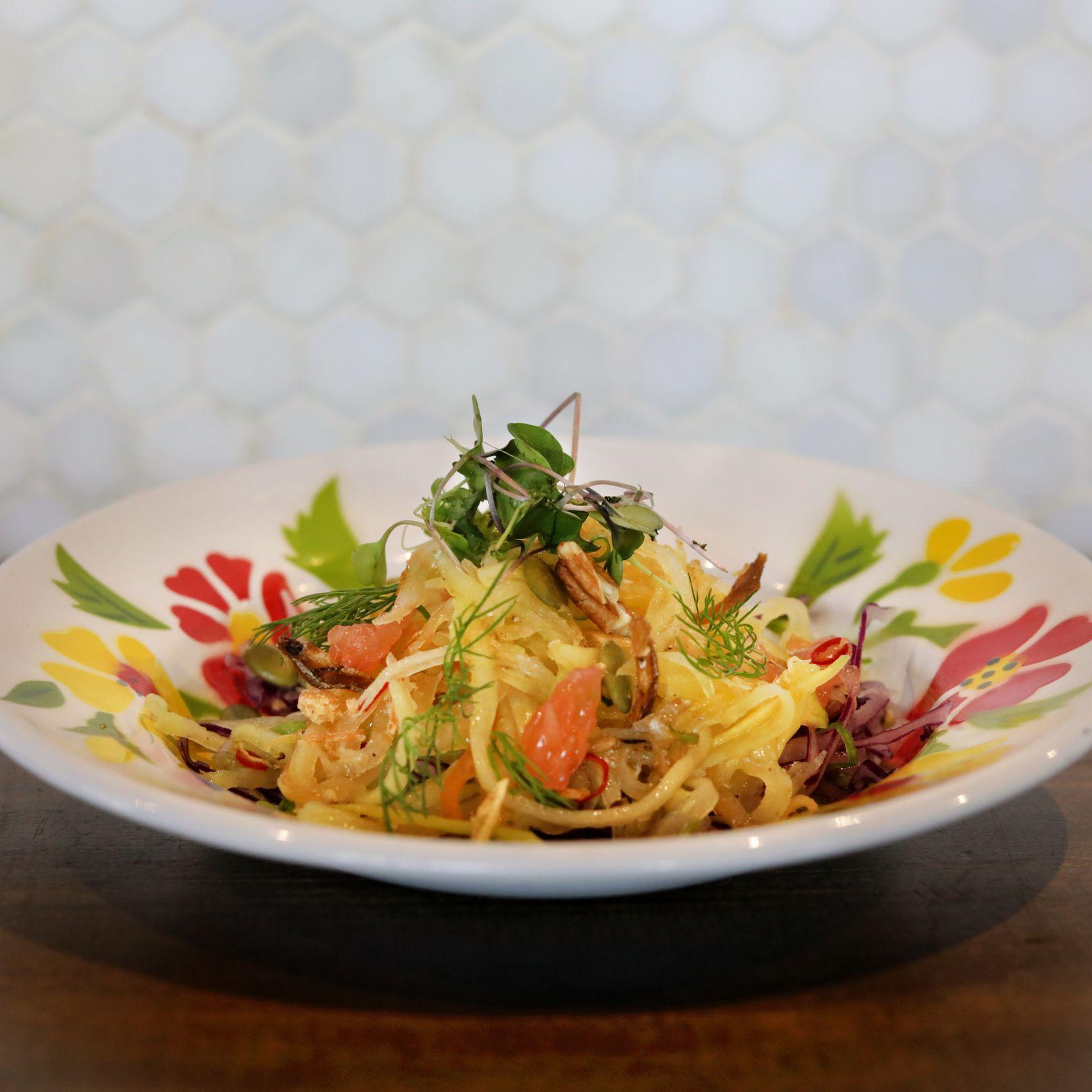 The Lao mango salad at Khao Noodle Shop