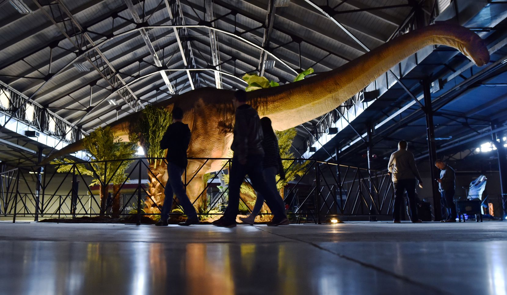 """Jurassic Quest,"" featuring more than 80 animatronic dinosaurs plus bounce houses, fossil digs, a dino petting zoo, is back at Fair Park this weekend."