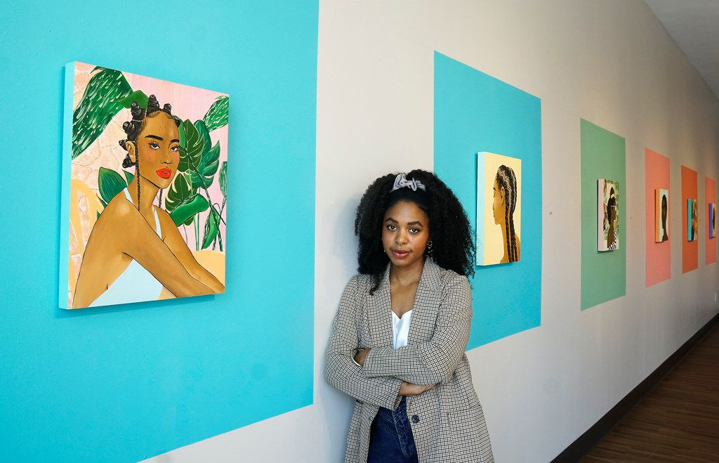 """Artist Ari Brielle, whose """"Safe Place"""" was displayed at the Oak Cliff Cultural Center in Dallas last summer, will be featured in """"Vivrant Thang."""" Her work explores the challenges of Black women in today's society."""