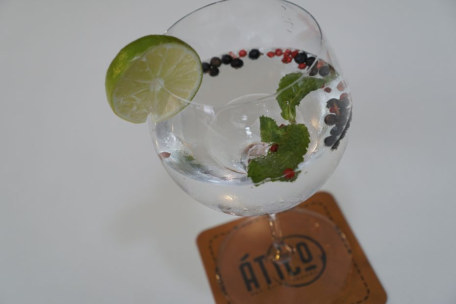 A gin and tonic is likely to be one of the more popular drinks at Ático.