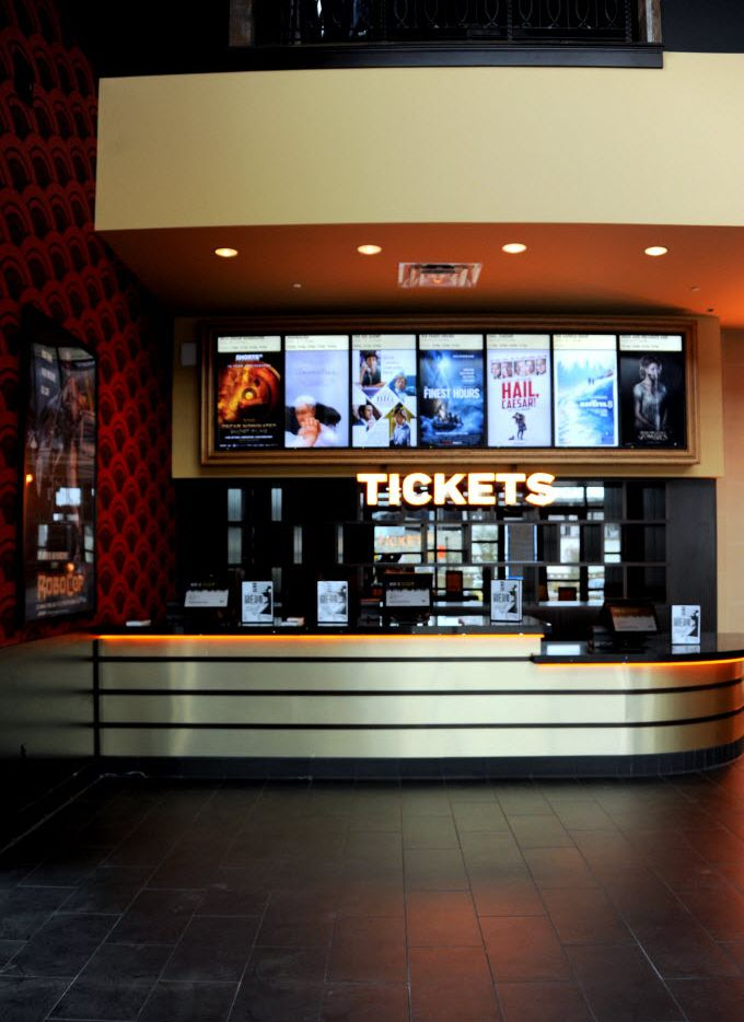 Guests will line up at the ticket stand in the lobby at Alamo Drafthouse Cinema Dallas opening February 12, 2016 in Dallas, TX. (Alexandra Olivia/ Special Contributor)