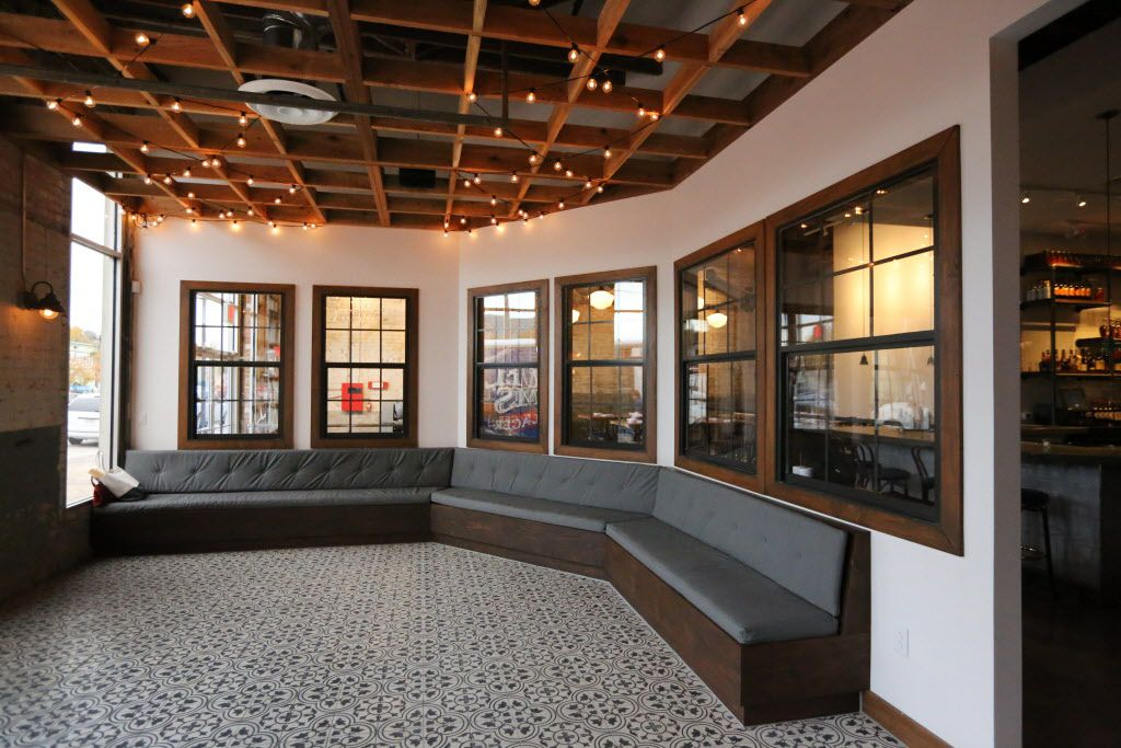 The foyer area at the new restaurant, Filament, at 2626 Main Street in Deep Ellum in Dallas, photographed on Tuesday, December 1, 2015. (Louis DeLuca/The Dallas Morning News)