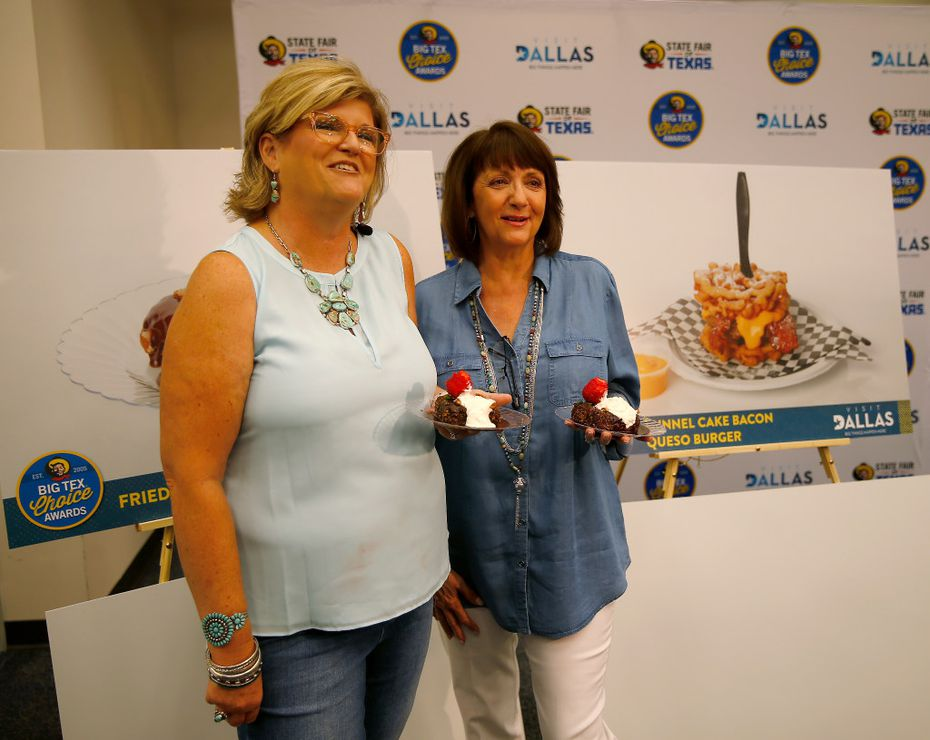 You know these sisters: They're Johnna McKee (left) and Christi Erpillo, of the family who has created Fernie's Deep-Fried Peaches and Cream and Fernie's Holy Moly Carrot Cake Roly at the State Fair of Texas. This year, they're a Big Tex Choice Awards finalist for Fernie's Fried Texas Sheet Cake. Fernie is their 91-year-old mother.