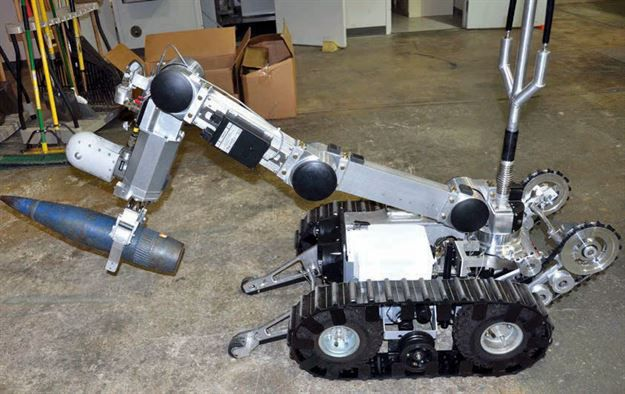 A Remotec robot similar to the one used Friday morning to detonate C4 and kill Micah Xavier Johnson, from the March Air Force Reserve base