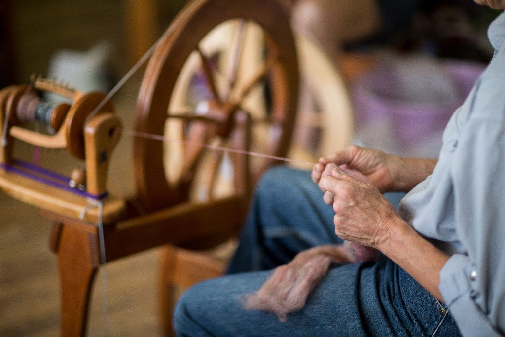 The New Mexico Fiber Crawl will include demonstrations and hands-on education. This spinning wheel is at Espanola Valley Fiber Arts Center, sponsor of the event.