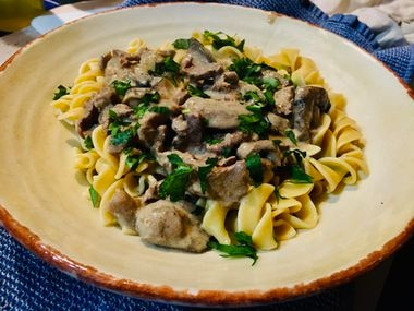 June Naylor shares an update of her grandmother June Granger s Beef a la Stroganoff recipe.