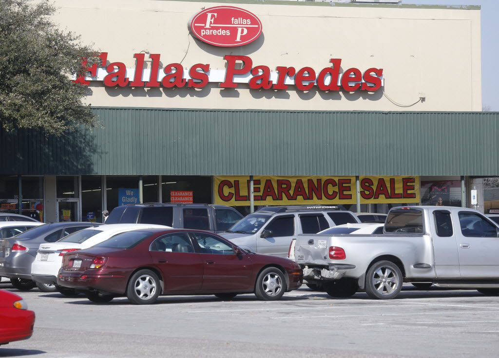 Fallas Paredes is one of the anchor store of the Wynnewood Village shopping center, which is located in Oak Cliff Saturday. Photographed taken Saturday February 13, 2016.  (Ron Baselice/ The Dallas Morning News)