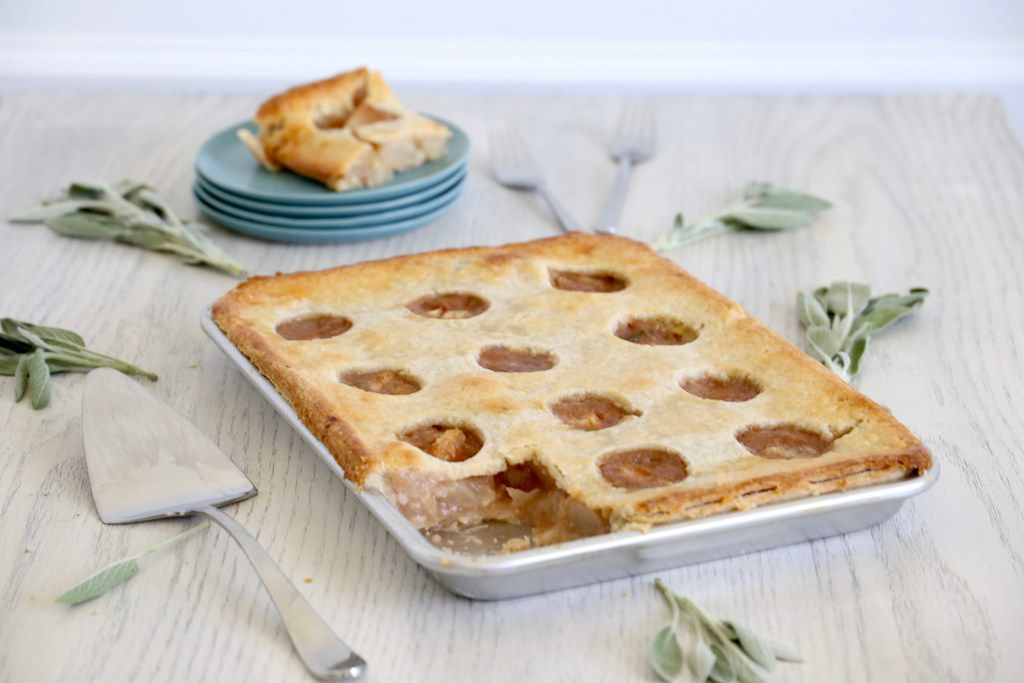 Caramelized Pear and Sage Slab Pie