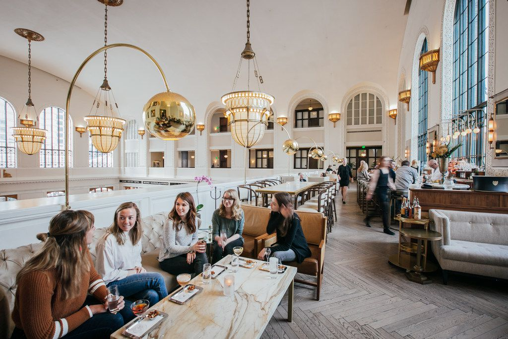 Sip at Union Station's Cooper Lounge for nice views and a classy vibe.