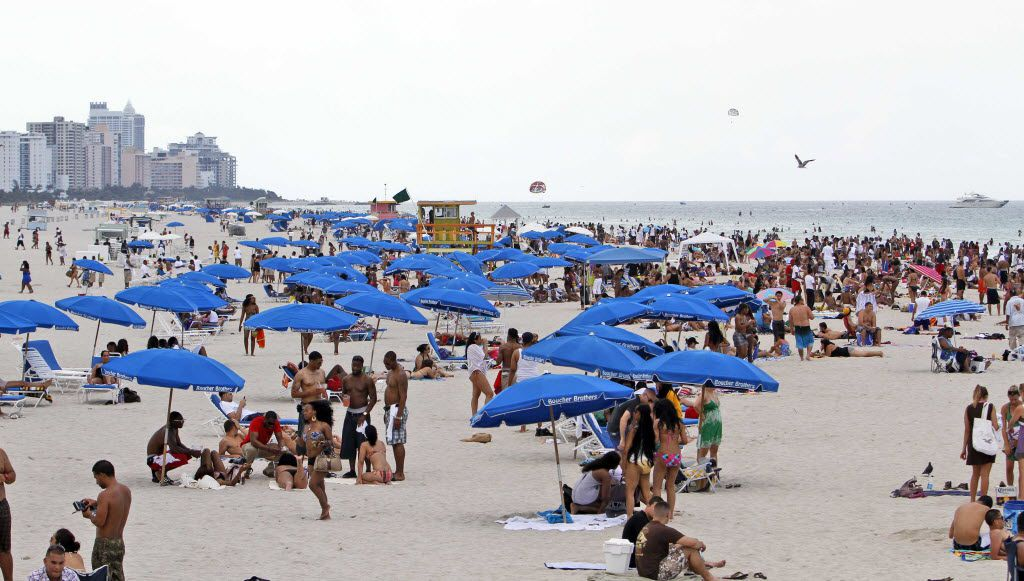 Miami's famed South Beach is a popular tourist destination, especially during winter months.