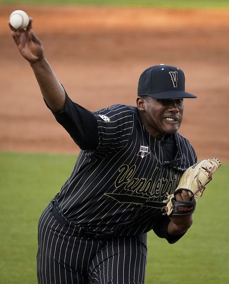 Vanderbilt pitcher Kumar Rocker delivers during an NCAA baseball game against Mississippi at Swayze Field on Friday, May 14, 2021, in Oxford, Miss.