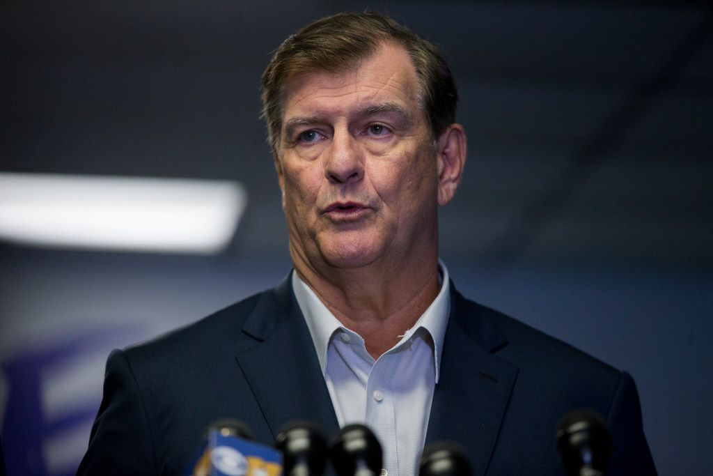 Dallas Mayor Mike Rawlings spoke at a press conference at Paul Quinn College on Saturday about the shooting death of Botham Shem Jean in Dallas. Jean was shotto death  by a Dallas police officer in his home on Thursday night.