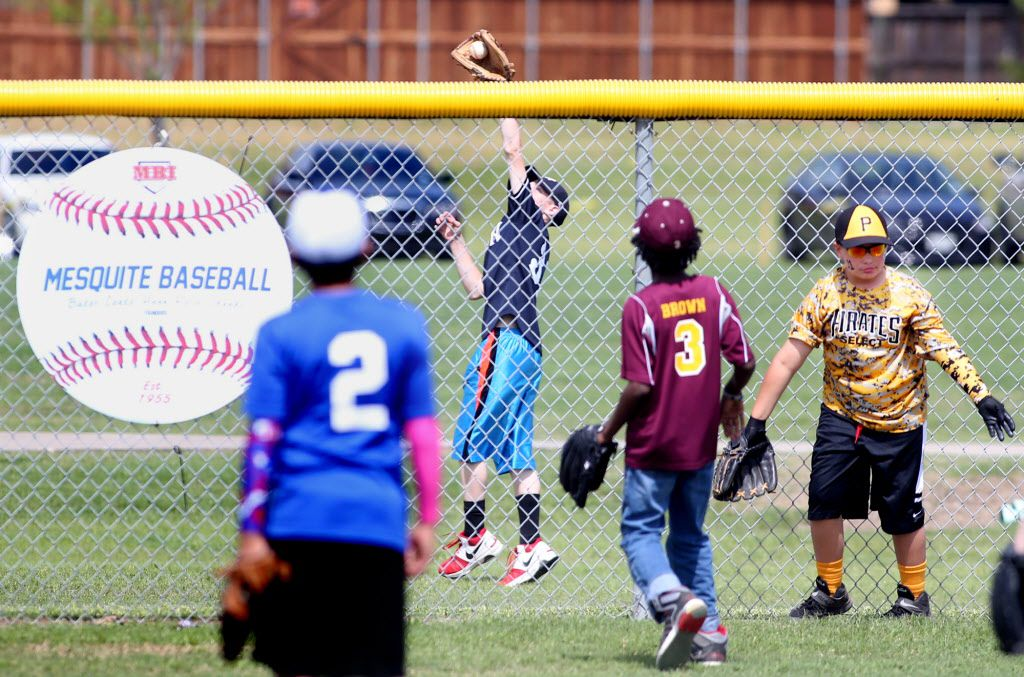 Youth baseball league players participate in a home run derby at Mesquite's Valley Creek Park. (2015 File Photo)