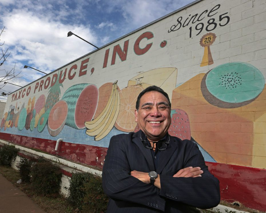 Taxco Produce, Inc. founder Alfredo Duarte at his business in Dallas.