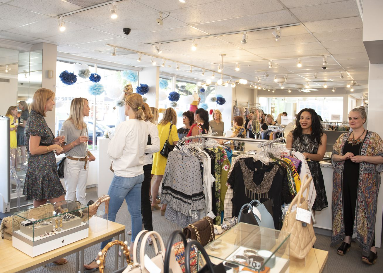 Clothes Circuit is located at 6105 Sherry Lane in Dallas. Photo of a store event in May 2019.
