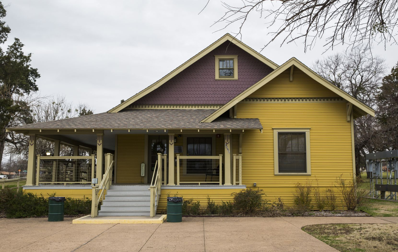 The Noah Range Farmhouse, a turn-of-the-century arts-and-crafts bungalow, is one of about a half dozen historic buildings at Opal Lawrence Historical Park.