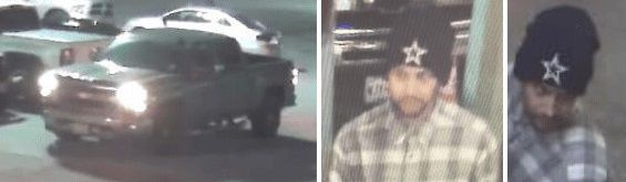Dallas police released images of the suspect vehicle and person of interest in a shooting that occurred in Far East Dallas on July 26, 2021.