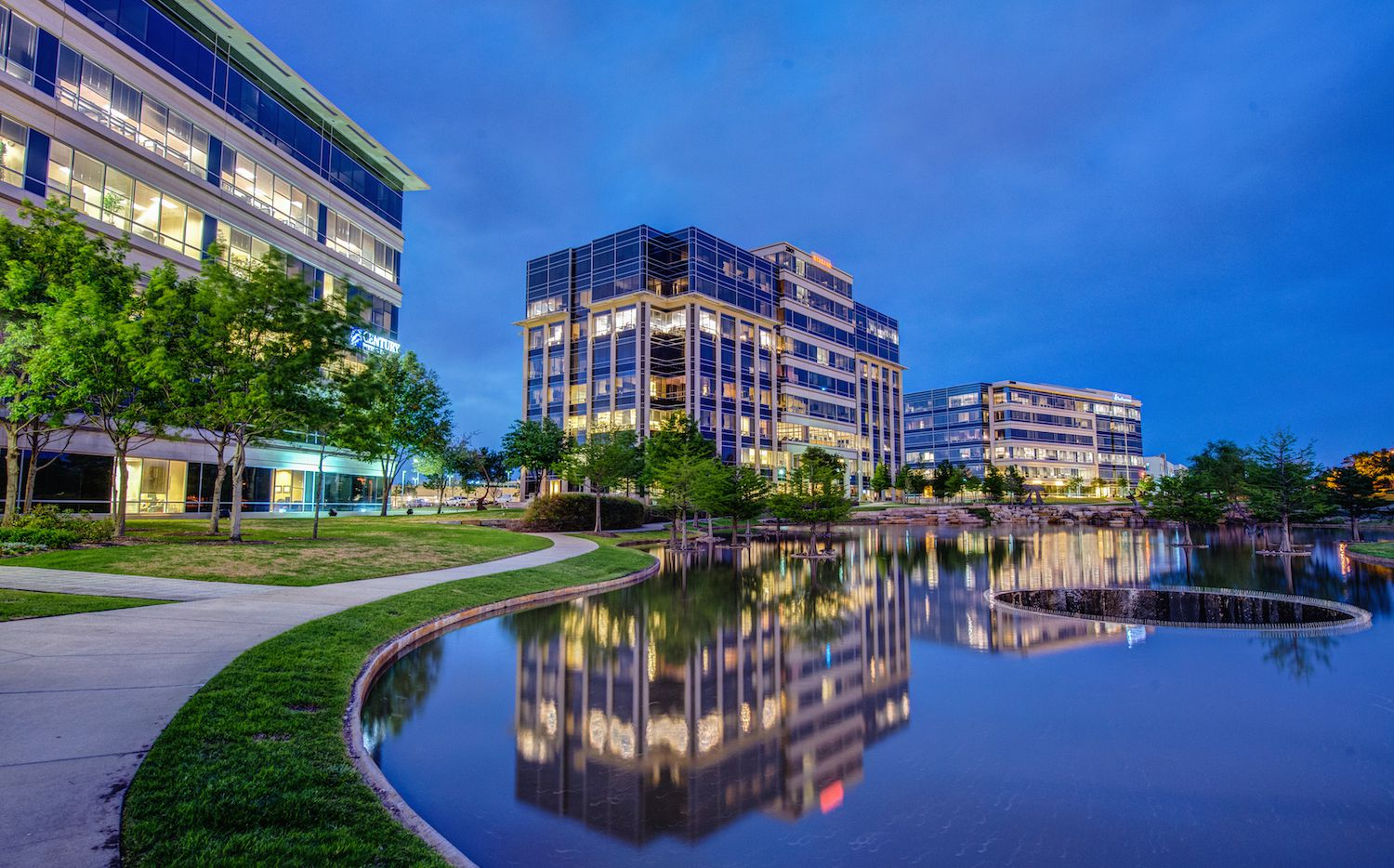 Hall Park is home to more than 10,000 office workers.