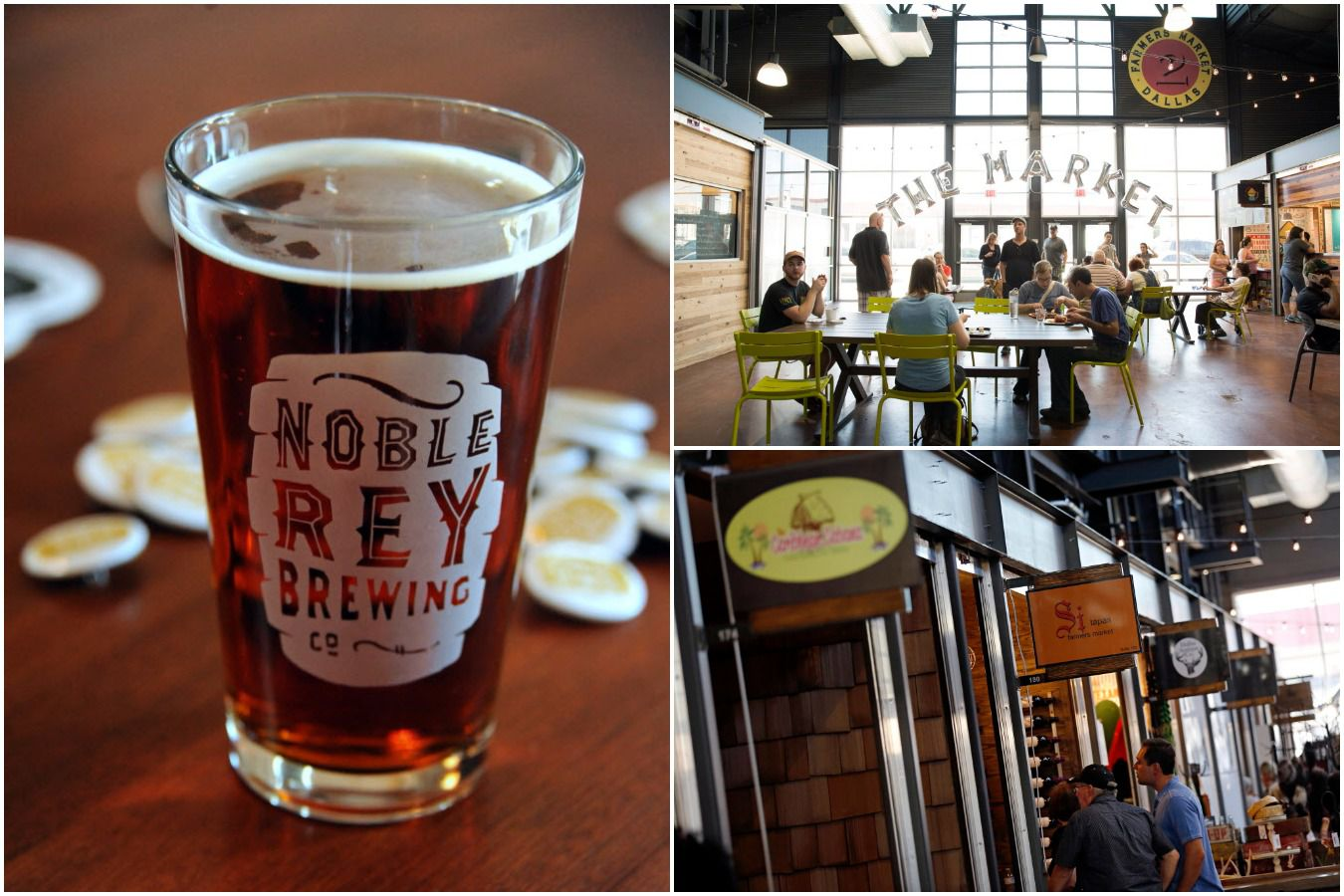 Noble Rey Brewing Co. is expected to open a second taproom inside the Dallas Farmers Market's revamped food hall, the Market, this summer.