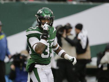 El profundo libre de los Jets de Nueva York, Jamal Adams, en un juego contar los Raiders de Oakland, el 24 de noviembre de 2019.
