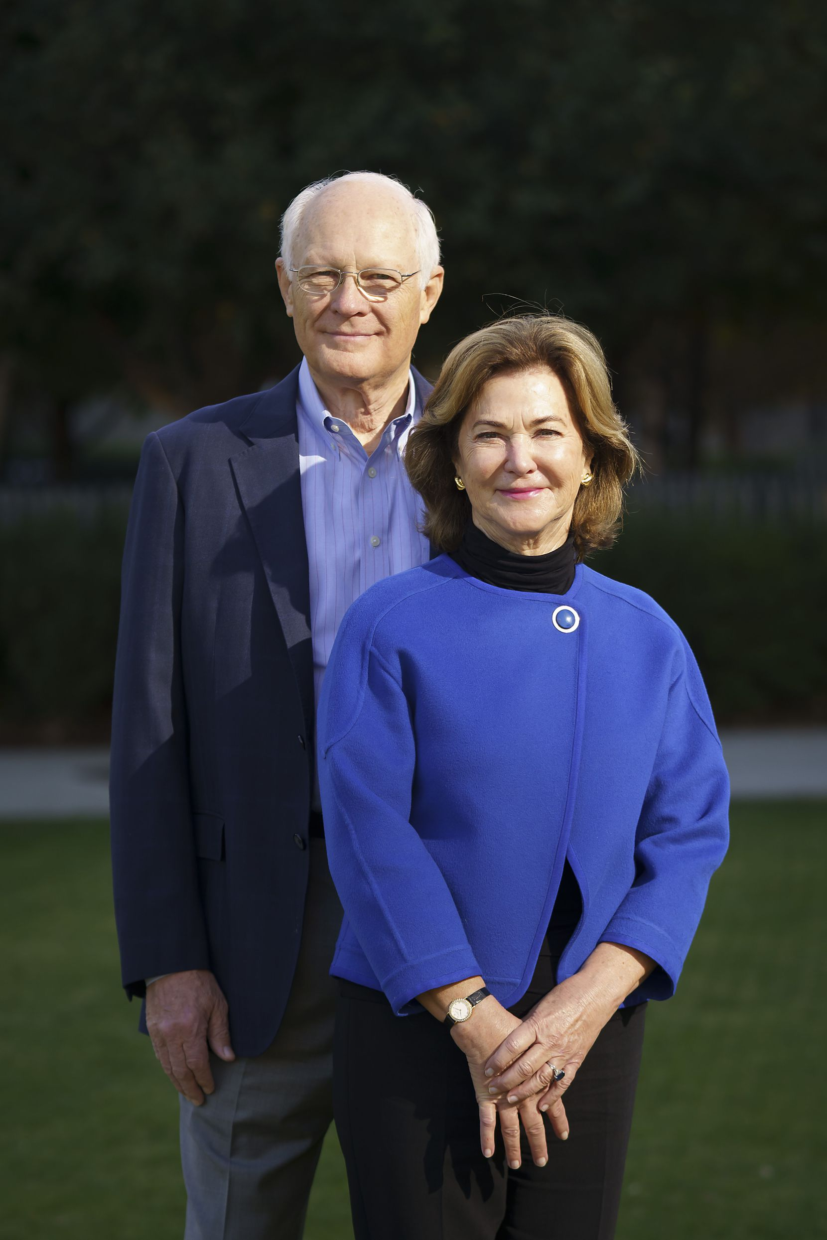 Klyde Warren Park board member Nancy Best and her husband Randy were photographed at the park on Nov. 18.
