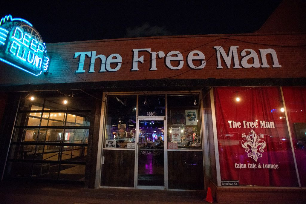 Free Man at 2626 Commerce St., in the Deep Ellum neighborhood of Dallas, Texas on March 30, 2019.