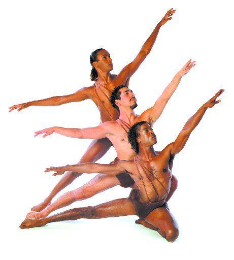 Edmond Giles (top), Armando Silva, and Darrell Cleveland (bottom) will dance in the Dallas Black Dance Theatre's annual Choreographer' Choice program.