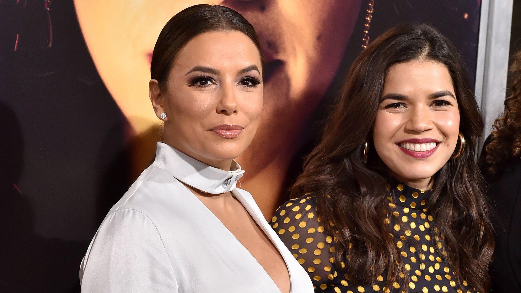 Las actrices Eva Longoria y América Ferrera en un evento en Los Ángeles.