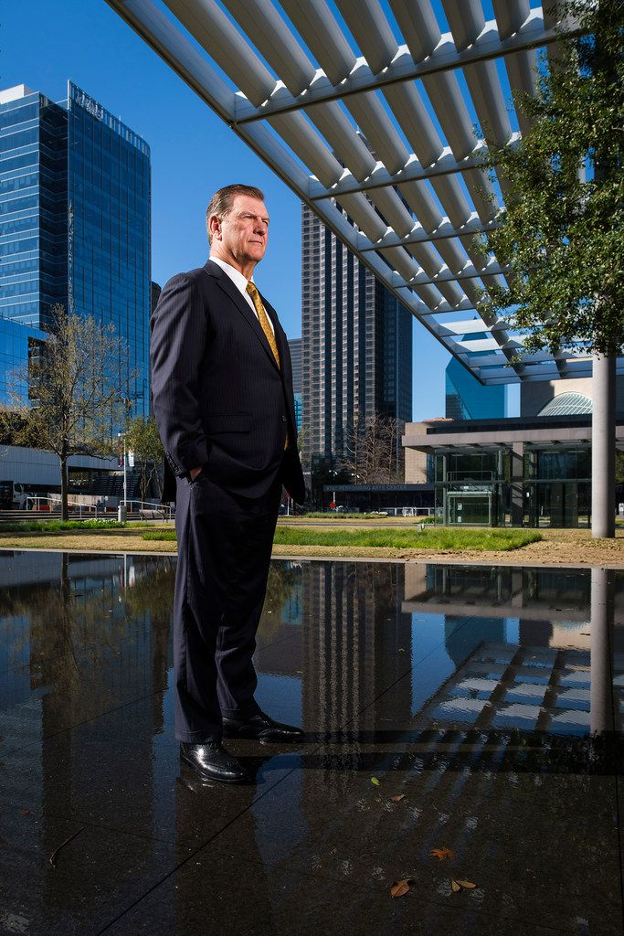 Dallas Mayor Mike Rawlings outside the Winspear Opera House in the Arts District