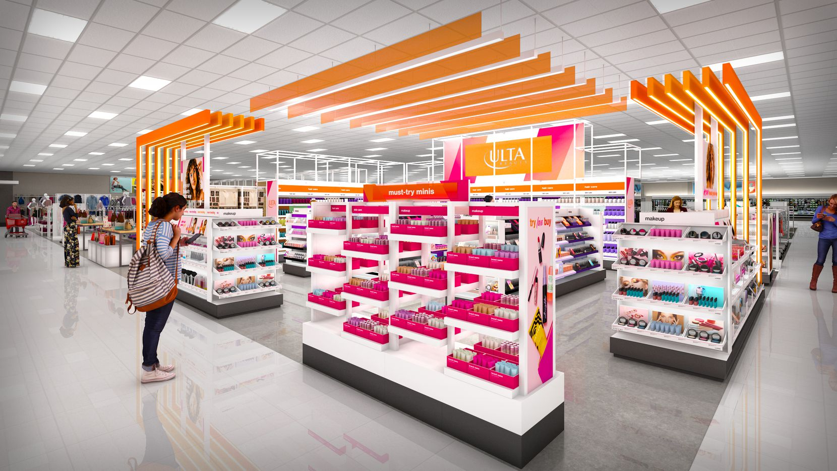 Ulta Beauty shops will start opening in Target stores in August.
