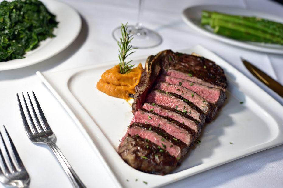 A wagyu bone-in steak from Al Biernat's steakhouse, on Friday, Sept. 02, 2016 in Dallas. Ben Torres/Special Contributor