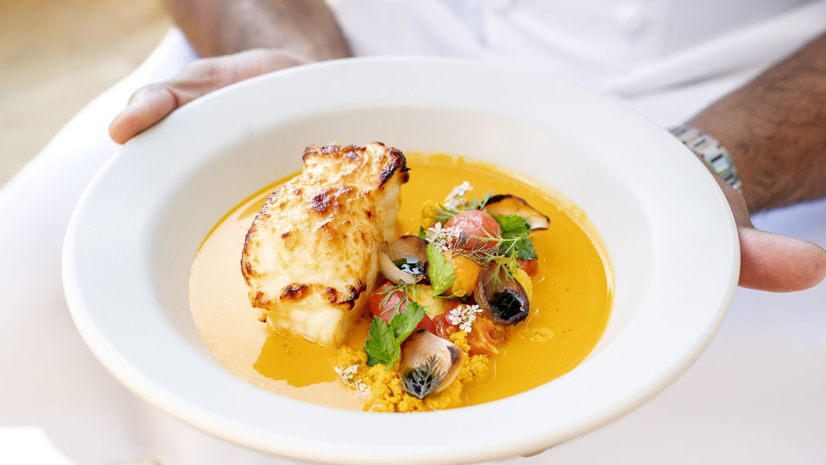 One of the most alluring parts of the Village's new restaurant complex is Meridian, a New American restaurant with Brazilian influences from chef Junior Borges, who was born and raised in Brazil. A fish stew called moqueca is on the menu in honor of his grandmother.